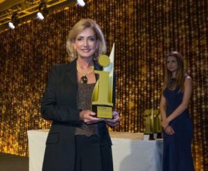Jo-Anne Redwood accepts the BIA 2016 Marketing Professional of the Year award.