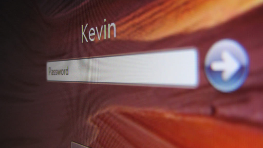 kevin login screen